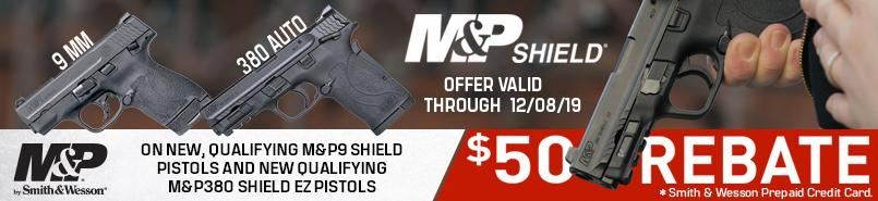 Smith & Wesson Shield Rebate ends in 1 hour