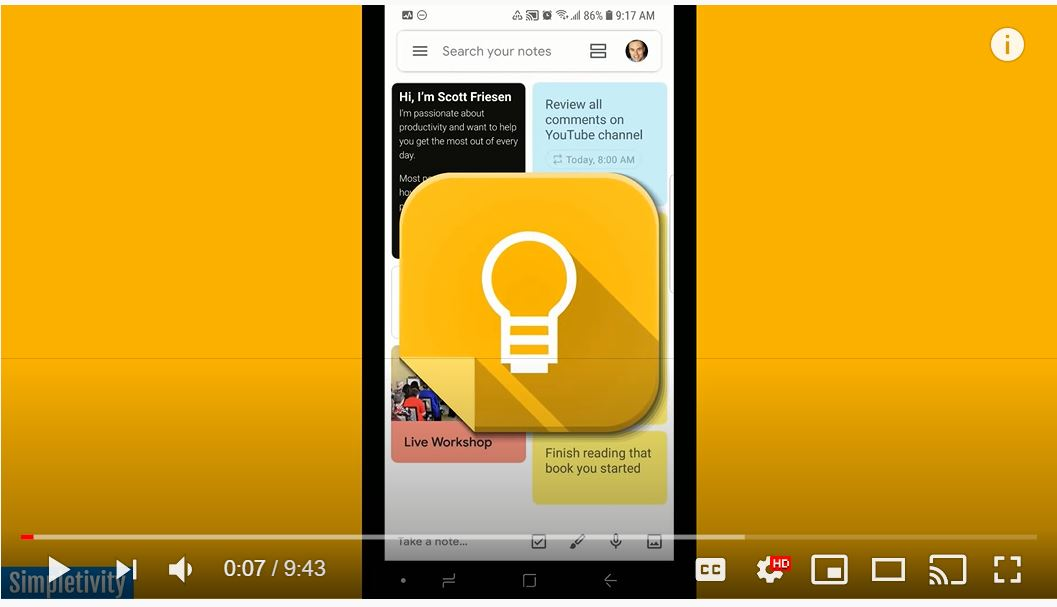 Introduction to Google Keep App
