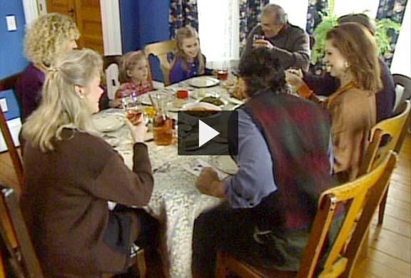 Casey family at Thanksgiving dinner