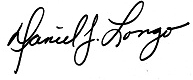 Signature of Daniel J. Longo