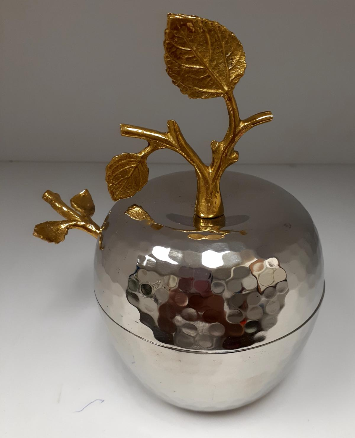 Honey Dish - Hammered Apple with Spoon