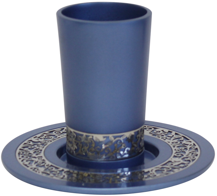 Blue Kiddish Cup with Gold