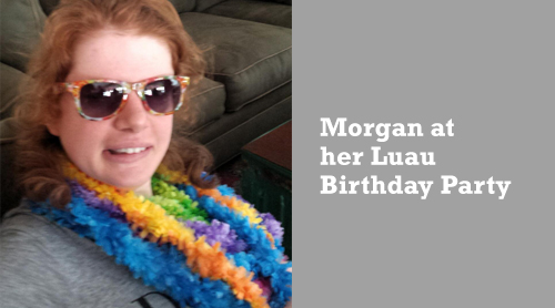 Morgan at her Luau Birthday Party