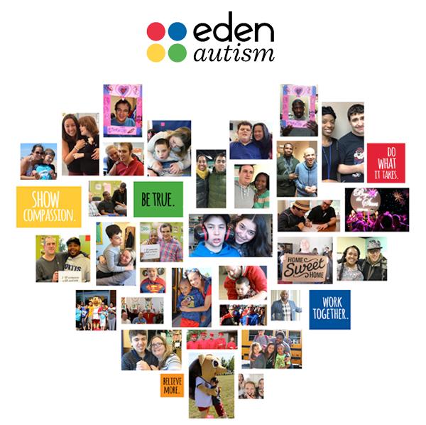 Eden Autism Valentine's Day Heart Collage