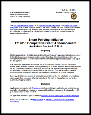 RFP front page