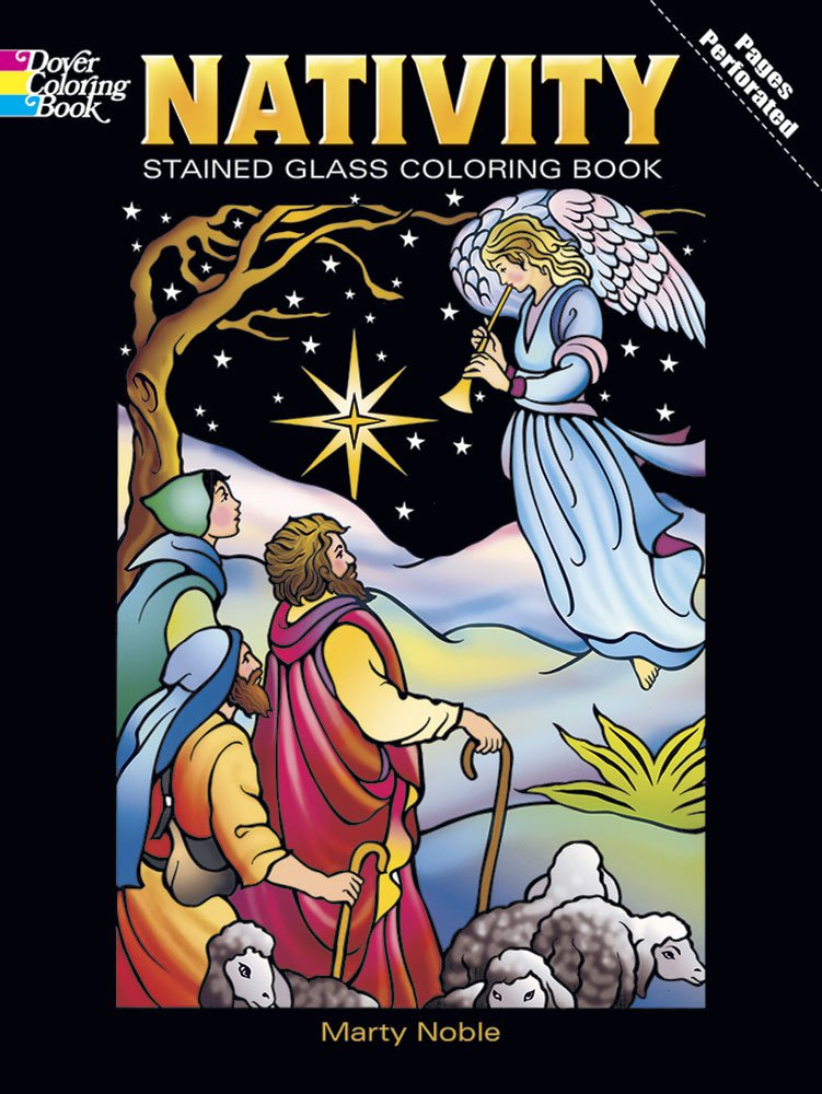 Dover's Nativity Stained Glass Coloring Book
