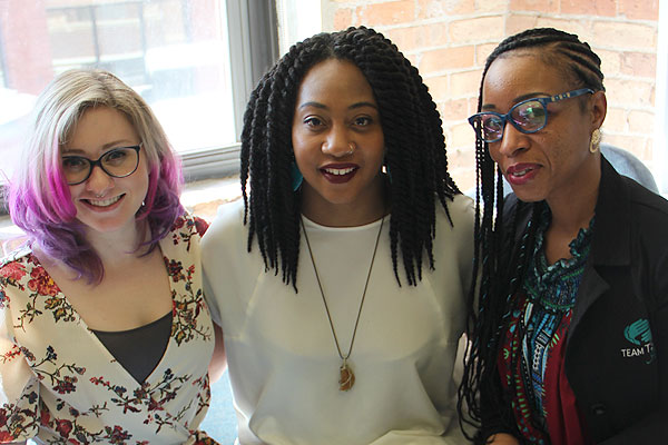 Caity-Shea Violette, Marline Johnson, and Samantha Collier, our Voices and Faces Project