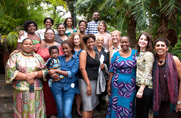 Voices and Faces Project members and our Tearfund allies in Durban, South Africa.  Photo: Patricia Evans