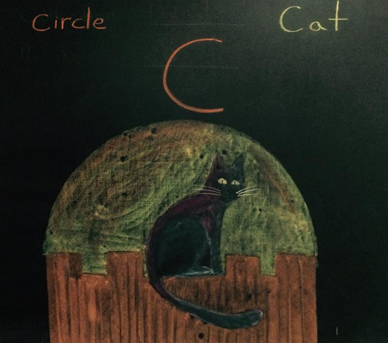 Letter C in Chalkboard Art