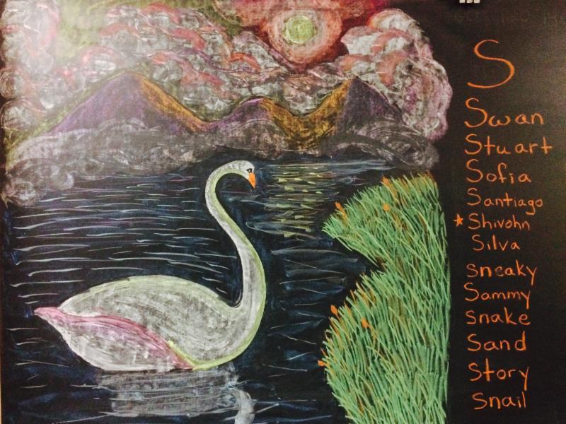 Chalkboard Art in Grade 1