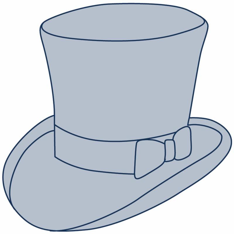 Cardboard Top Hat - White - Pack of 20 | Paper & Card ... | 800x800