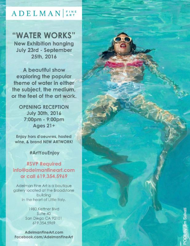 Water Works Reception at Adelman Gallery - Pool by Jim Salvati