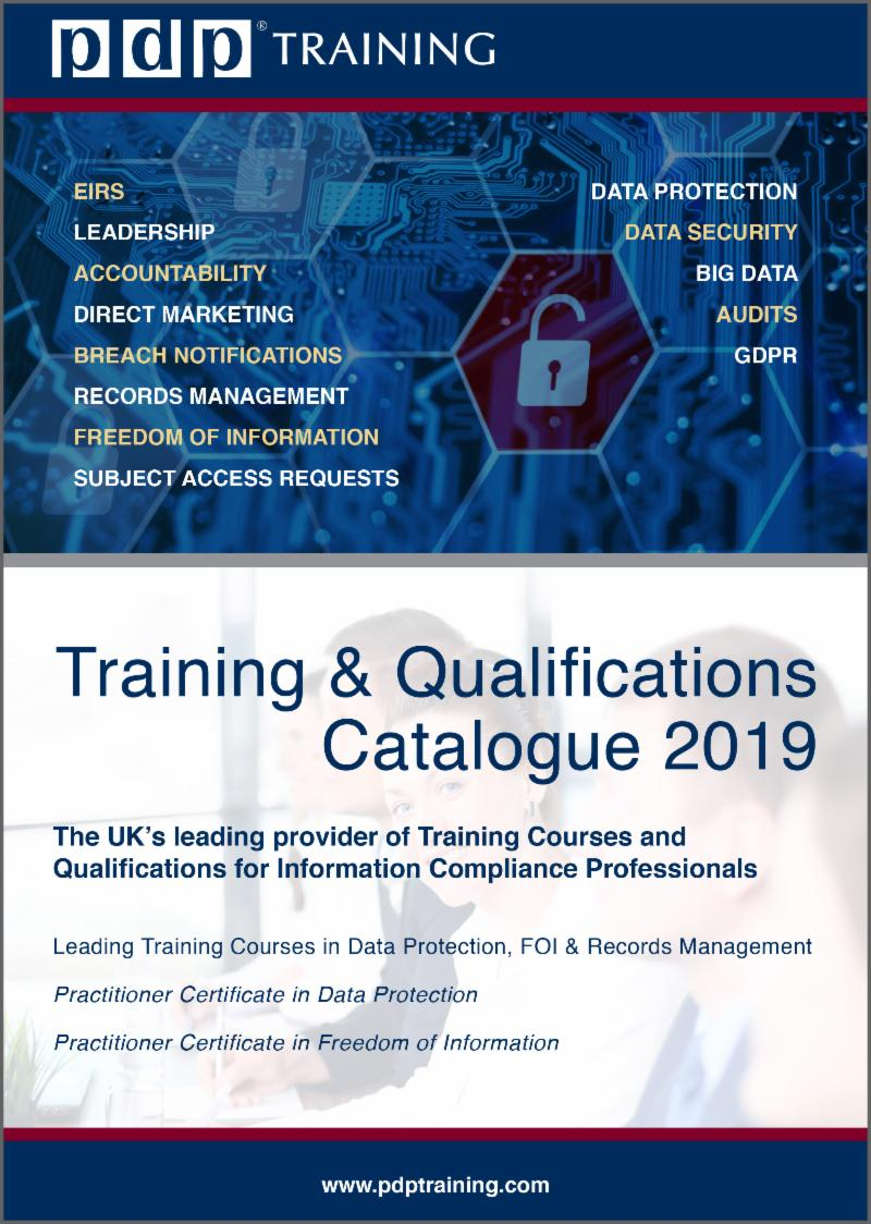 PDP Training Catalogue 2019
