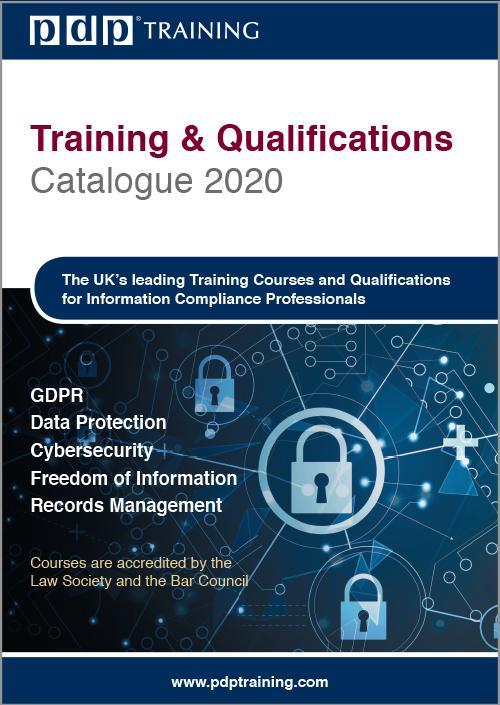PDP 2020 Training Catalogue