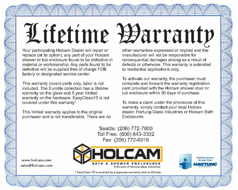 Holcam Warranty