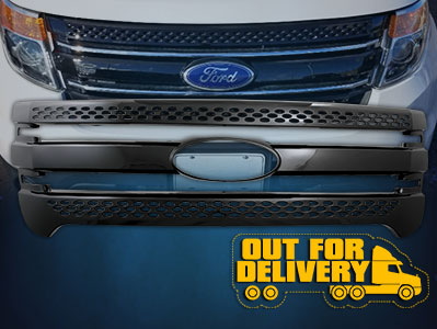 GI91BLK  CCI Grille Overlays  11-15 Ford Explorer ETA: 5-7 Business Days. Pre-order today!
