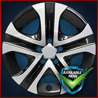 51817SB CCI Wheel Covers 13-18 Toyota Rav4 17in, Gloss Black & Silver