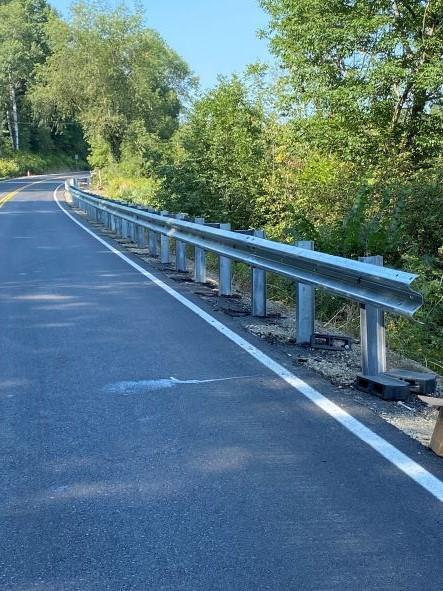 VT105 Richford new guardrail