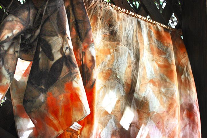 Eco Printing on Silk by Mona Lewis