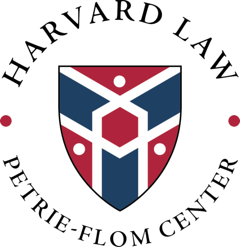 Petrie-Flom logo_ Shield encircled by words _Harvard Law Petrie-Flom Center_