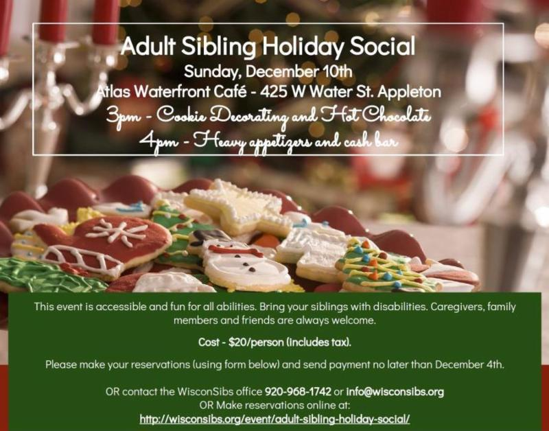 Adult Sibling Holiday Social Information - Dec 10 2017