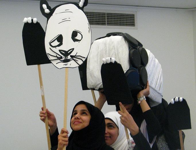 ELTA UAE 3 person panda puppet