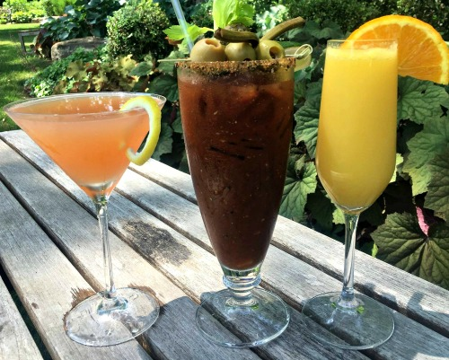 Brunch libations at Golden Pheasant Inn