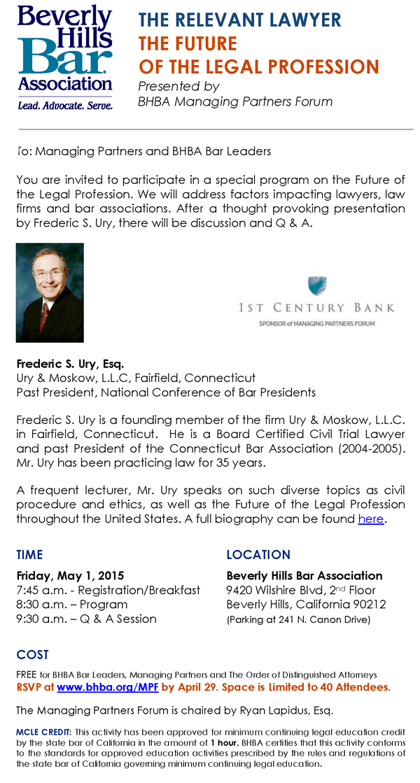5/1 - Future of the Legal Profession