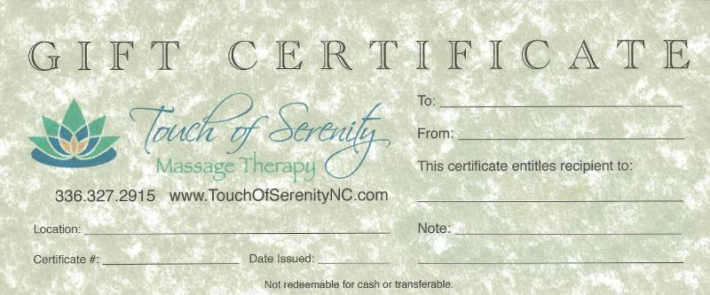 Gift Certificate Holiday