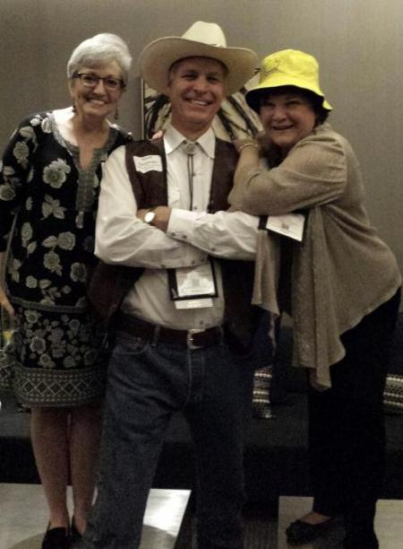 Kent with Marcy _right_ yellow hat_ and Lori Jacobwith after Marcy_s presentation in San Francisco