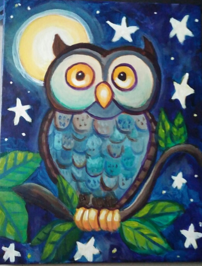 Coffee and Canvases 11 7 2015 - Night Owl with Micah Goguen