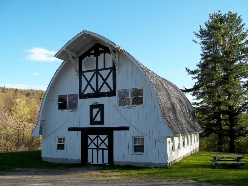 Painter and 2011 MAAF Creative Fellowships recipient  Brian Dunn_s photograph of the Steepletop Barn at the Millay Colony for the Arts.