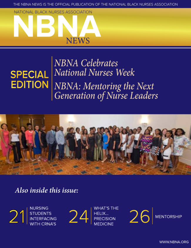 Image of Newsletter Front Cover says NBNA News: Special Edition Celebrating National Nurses Week