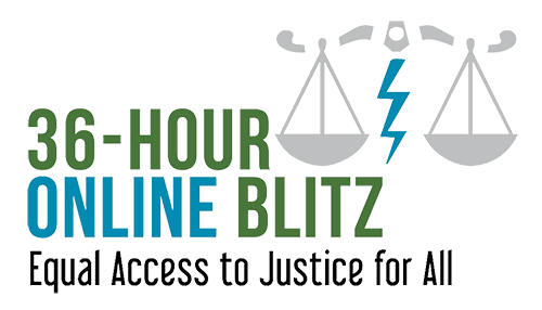 36-hour online blitz - equal access to justice for all