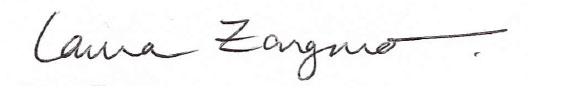 Lama Zangmo signature