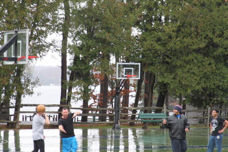 Playing Basketball in the Rain