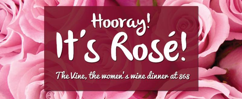 rose night at the vine