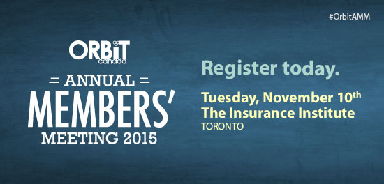 ORBiT Annual Members' Meeting, Nov 10th, 2015