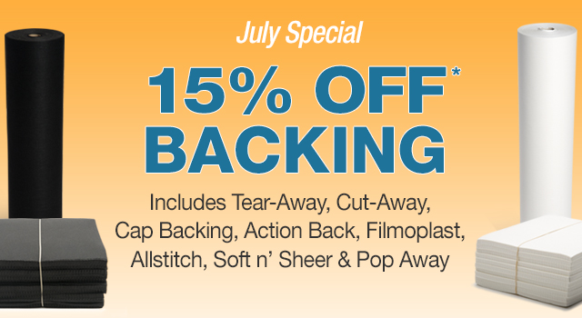 15% off backing