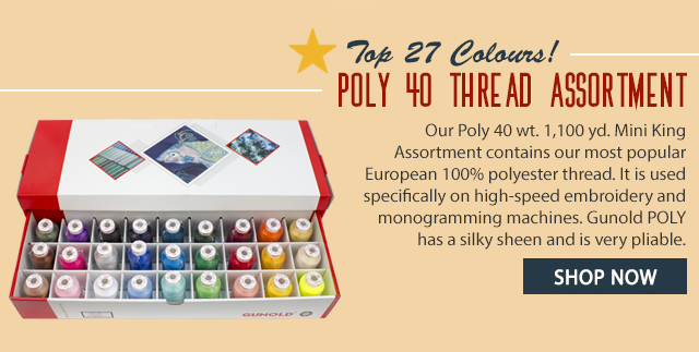 poly 40 thread assortment