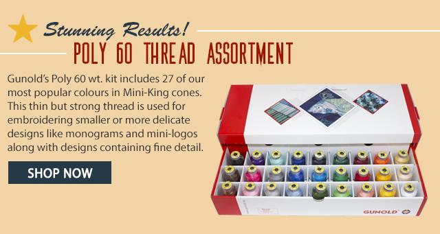 poly 60 thread assortment