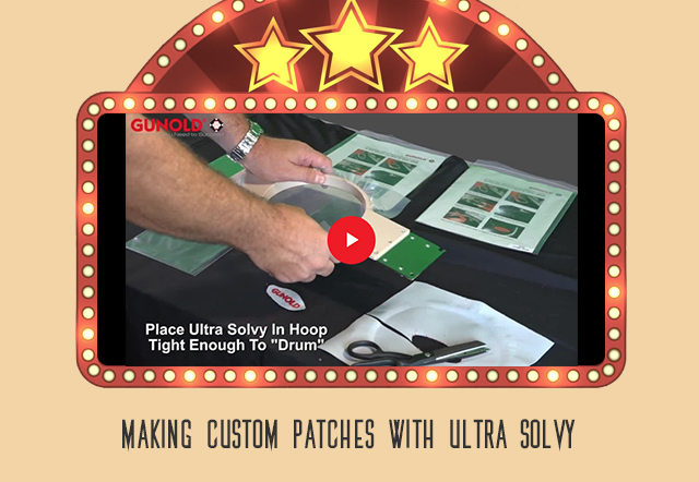 making custom patches with ultra solvy video