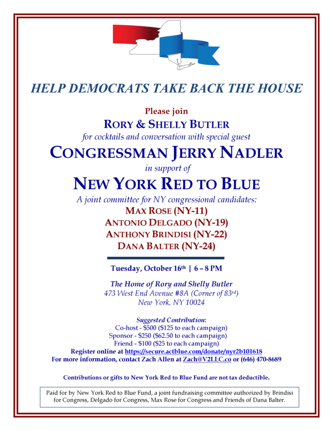 Let's raise funds to help Democratic candidates in their House campaigns.