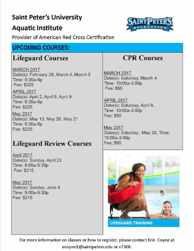 Upcoming Lifeguard And Cpr Classes Rec Center Intramurals