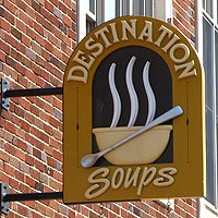 Destination Soups Sign