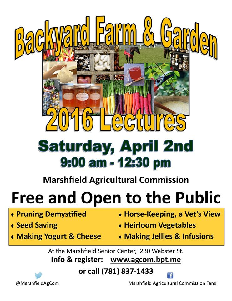 Backyard Farm & Garden Lectures
