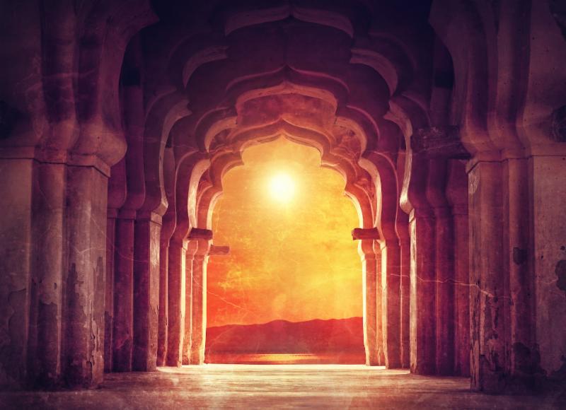 Healing Temple Door