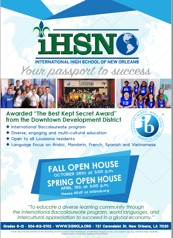 International High School of New Orleans Fall Open House