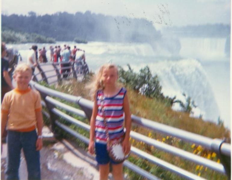 Niagra Falls_ me and my sister_ early 1970s