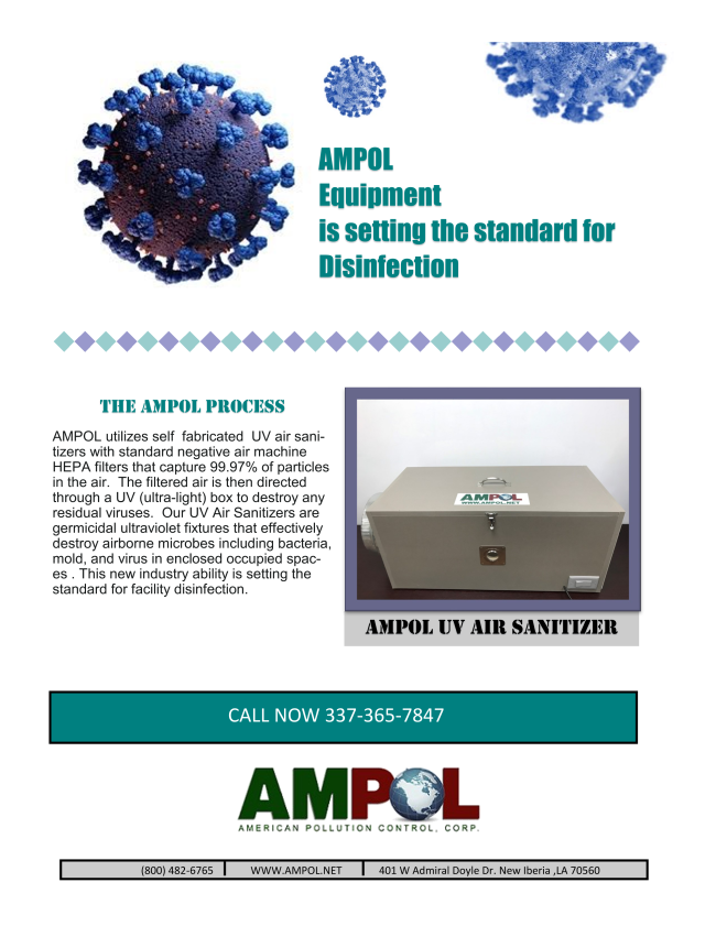 AMPOL Equipment is Setting the Standard for Disinfection